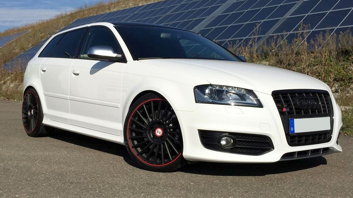 audi a3 s3 8p summerwheels 19 venti r black red dunlop. Black Bedroom Furniture Sets. Home Design Ideas