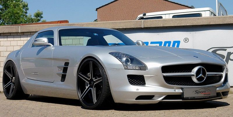 Mercedes Benz SLS - mbDESIGN KV1 Black Matt Polish
