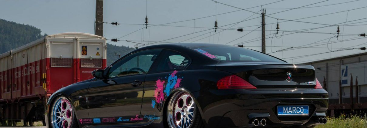 BMW M6 E63 mit der mbDESIGN 2Face (RV1.3 + LV1.3) Custom Surface 2 in 9x20 ET8 + 10,5x20 ET11