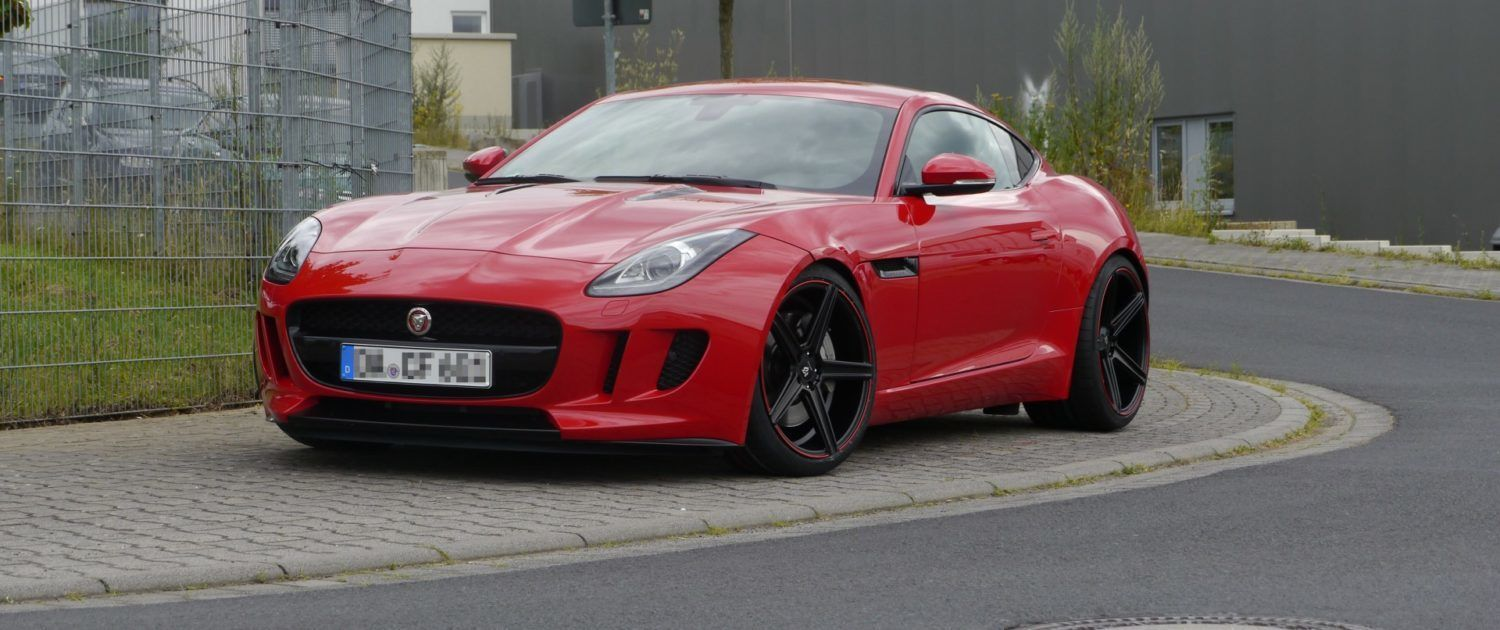 Jaguar F-Type KV1 9x20 + 12x20 Extrem Konkav Black Red