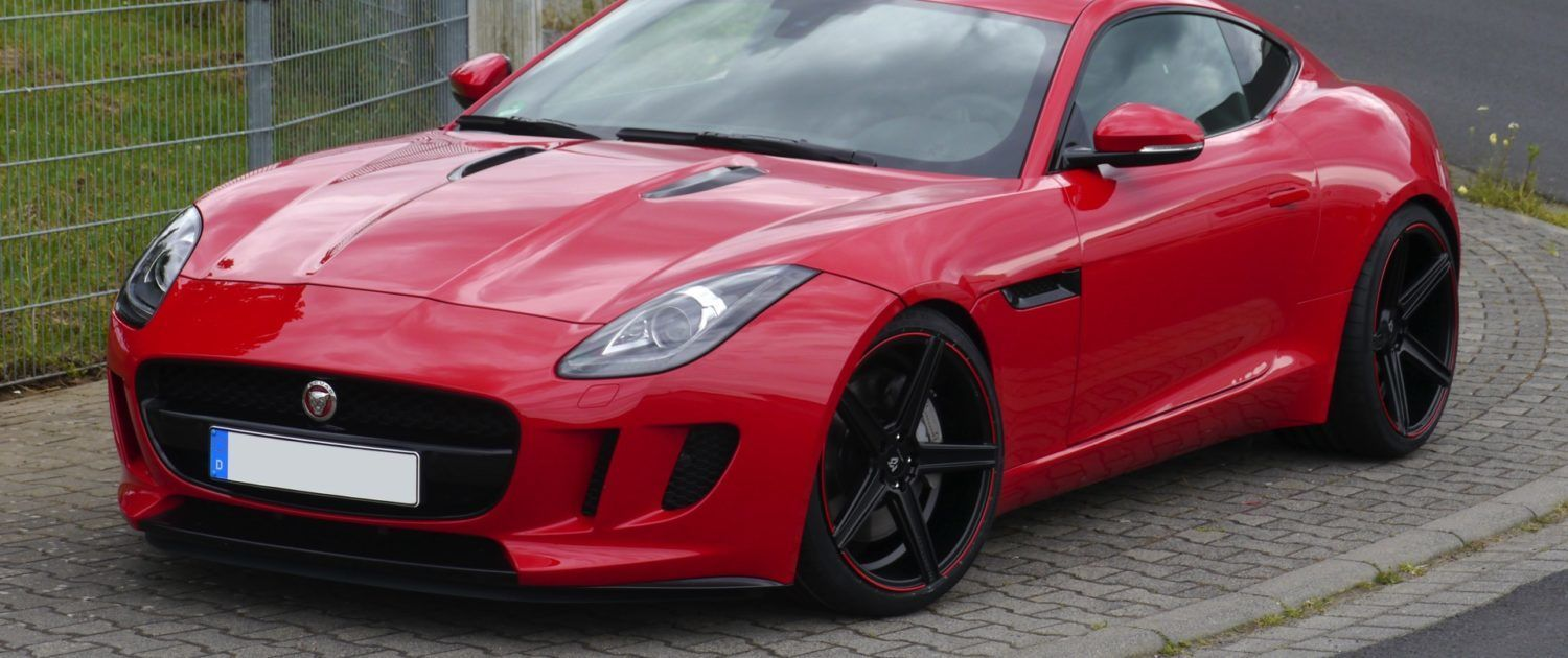 Jaguar F-Type KV1 9x20 + 12x20 Deep Concave Black Red