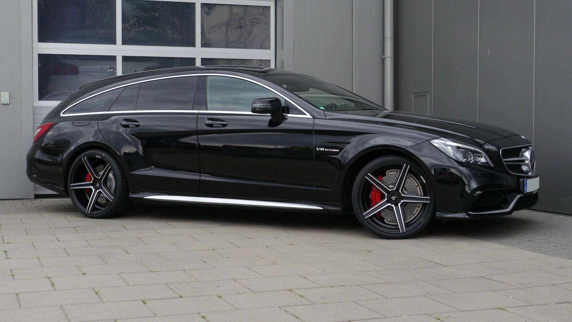 Mercedes Benz CLS 63 AMG Shooting Brake mit mbDESIGN KV1 9x20 Konkav ...