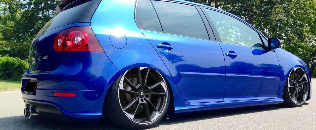 VW Golf 5 R32 mbDESIGN mb1 7.5x19 ET51 Schwarz Matt poliert + 225/35R19